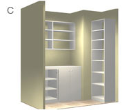 Pantry Storage with Cabinet